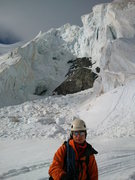 Rock Climbing Photo: Xavier at the bottom of the final ascent. Nice big...