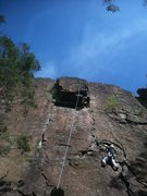 Rock Climbing Photo: Seconding Broadway (the lower climber).  The highe...