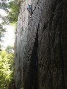 """Rock Climbing Photo: Marc André Nantel dans """"Trident"""""""