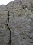 Rock Climbing Photo: Rope is on Fork it Over.  Crack to the left is But...