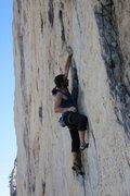 Rock Climbing Photo: groping a fin
