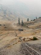 Rock Climbing Photo: descending Tenaya Canyon during the Rim Fire