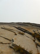 Rock Climbing Photo: the arching flake crux pitch (left most one that's...