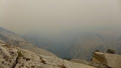 Rock Climbing Photo: stellar view of Half Dome with the fire