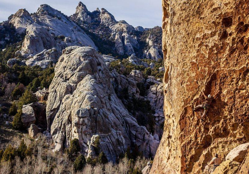 Rock Climbing Photo: David on Tribal Boundaries.