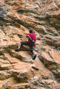 Rock Climbing Photo: The cool undercling section of Cardinal Sin (5.12a...