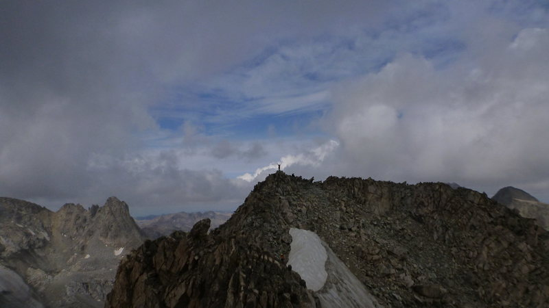 Rock Climbing Photo: My wife Kate on the summit of Winifred Peak-12,775