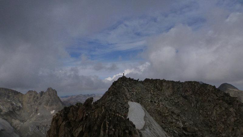 My wife Kate on the summit of Winifred Peak-12,775