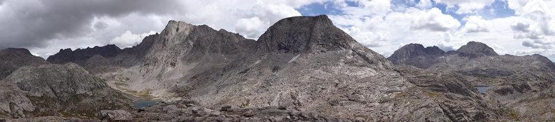 Rock Climbing Photo: Panoramic of Ellingwood and Elephant Head.
