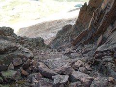 Rock Climbing Photo: Class 3, Gully Action.