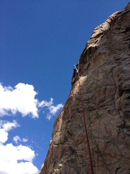 Rock Climbing Photo: Doug Nidever on the route