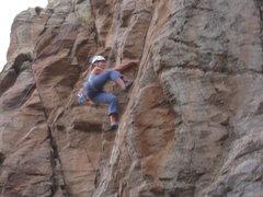 Rock Climbing Photo: Fun movement for the grade.
