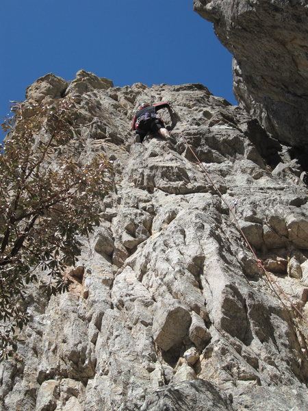 Rock Climbing Photo: First 3 bolts get the grade; top of the climb is a...