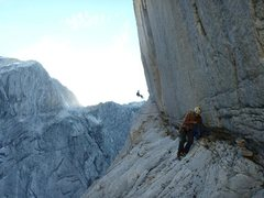 Rock Climbing Photo: After pitch 6. The walk off after all the other ra...