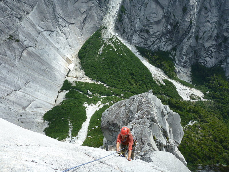 Wild man Rhane near the top.