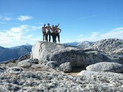 Rock Climbing Photo: Summit shot. Happy men.