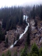 Rock Climbing Photo: The waterfall at Issyk Ata Tooyuk