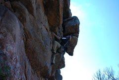 Rock Climbing Photo: Bob Rotert still climbing Roxy's at the Cove 9-1-1...