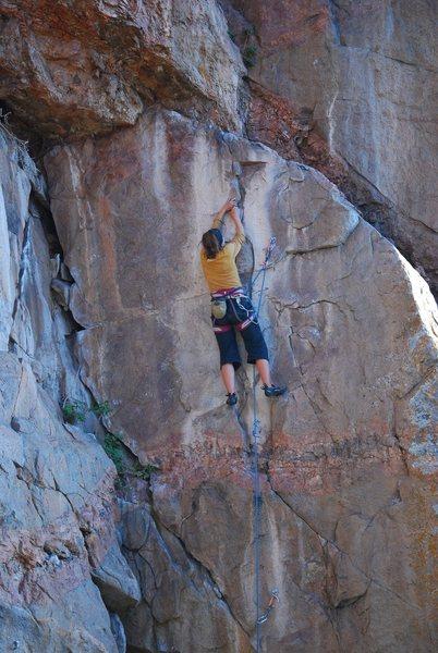 Rock Climbing Photo: Mary Jo on Transporter.