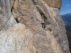 Rock Climbing Photo: Arsenault following up Higher Cathedral Rock.  (Be...