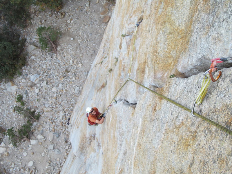 Rock Climbing Photo: Pitch 1&2 on Central Pillar of Frenzy.  AWESOME, a...