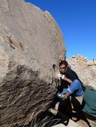 Rock Climbing Photo: Chas on Bloodline, Joshua Tree NP