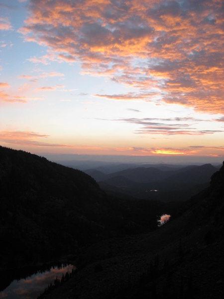Jackson - Johnson route - Hallett Peak.  RMNP Sunday Sept 1st. 2013 Photo by Mike Walley.