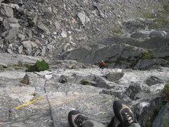 Rock Climbing Photo: Jackson - Johnson route - First Pitch - Hallett Pe...