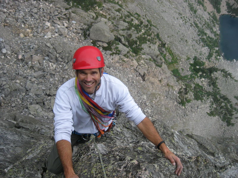 Rock Climbing Photo: Jackson - Johnson route - Hallett Peak. RMNP Sunda...