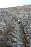 Rock Climbing Photo: Climbing at Blackleaf Canyon - Fox Hole 5.10