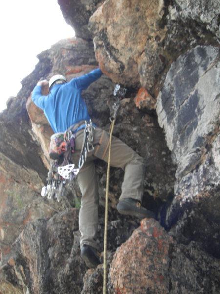 Rock Climbing Photo: Angus on FA.