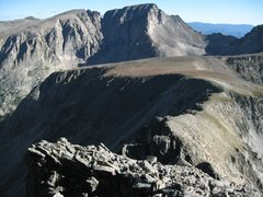 Rock Climbing Photo: Looking north from the route towards Powell, McHen...