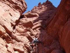 Rock Climbing Photo: Leading the 3rd pitch of West Side Story.