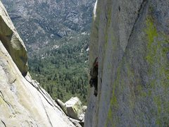 Rock Climbing Photo: following thin ice.