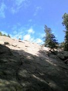 Rock Climbing Photo: Base of 2nd; looking up.