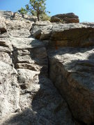 Rock Climbing Photo: Another view of the crack.