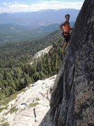 Rock Climbing Photo: Ben having fun on Darth Vader. Photo by Casey Zak