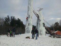 Rock Climbing Photo: Fenton, MI ice climbing...first and last time
