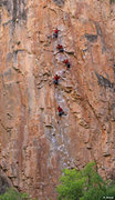 "Rock Climbing Photo: Keith Beckley ""in line"" on Feline (5.11)..."