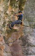 Rock Climbing Photo: Ben on steep jugs. Genesis (5.12a).