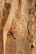 Rock Climbing Photo: Casey N. reeling in the positive holds, and big mo...