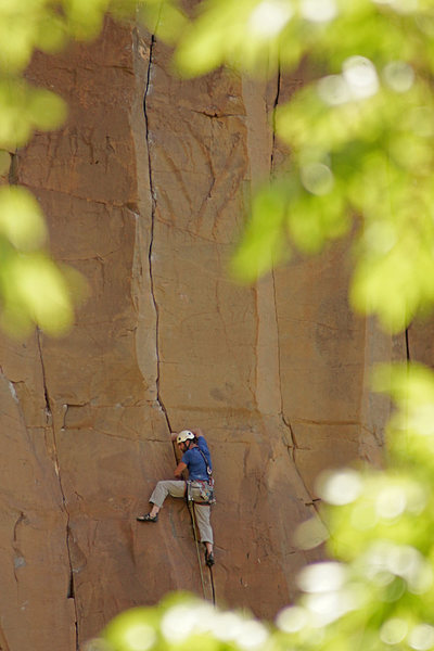 Rock Climbing Photo: Darren Mabe approaching the crux of Natural Enhanc...