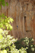 Rock Climbing Photo: Darren Mabe moving into the original finger lockin...