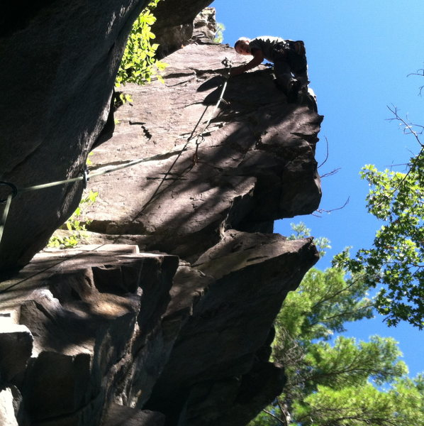 Rock Climbing Photo: the fun after the crux