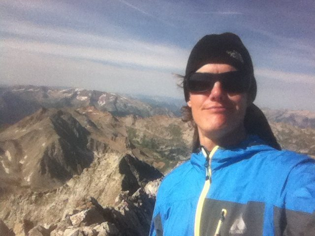 Self photo from the summit