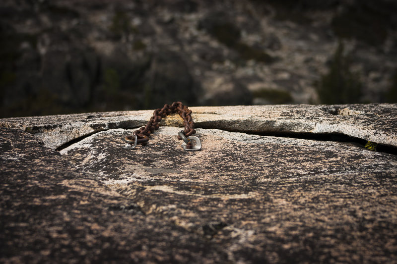 Rock Climbing Photo: A reliable looking pair of anchors?