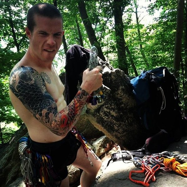 Rock Climbing Photo: I don't need no stinkin pants!
