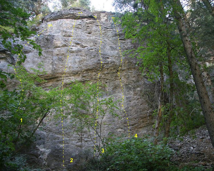 Rock Climbing Photo: 1 Carry the Nothin' 5.11a 2 Shiny 5.11b 3 Stone Co...