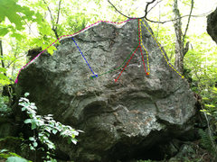 Rock Climbing Photo: Yellow= In The Rough Red=On The Inside Green=? Blu...