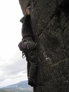 Rock Climbing Photo: Starting the thin crack.